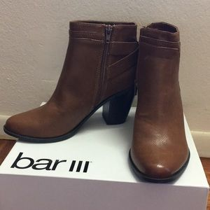 Bar III Ankle Boots women's sz 7.5 brown brand new